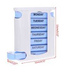 7 DAY WEEKLY Pill Organiser STACKING TOWER Large 4 Daily Compartments Tablet Box H55D