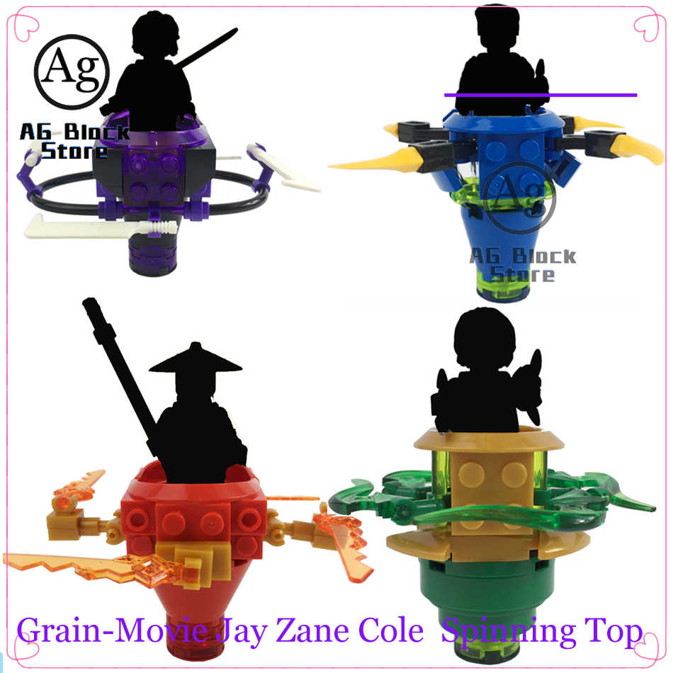 Compatible Legoed Ninjaed mini-poupée figurines toupie blocs de construction Gyros briques jouets vente unique