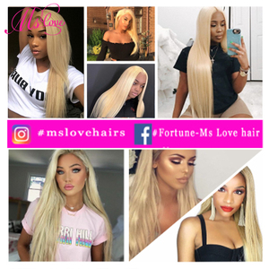 Image 5 - Blonde 613 Bundles Straight Human Hair Brazilian Hair Weave Bundles 1 2 3 4 Bundles Remy Hair Mslove Can Be Dyed Any Color