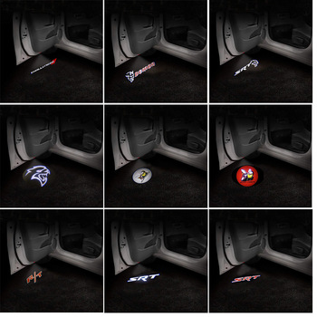 Światło Logo drzwi samochodu LED Ghost Shadow emblemat projektor dla Dodge Challenger SRT Scat Pack Demon Charger Hellcat RT Super pszczoła tanie i dobre opinie NONE CN (pochodzenie) Światło na powitanie 30cm Car Door Logo Light Car Welcome Light Car Door Ground Emblem Projector
