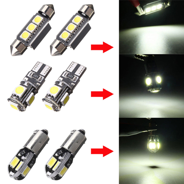 20Pcs Car LED Bulbs Interior Kit Dome Trunk Door Plate Light Super Bright Canbus Error Free Interior Lamp for BMW 5 Series E39 M