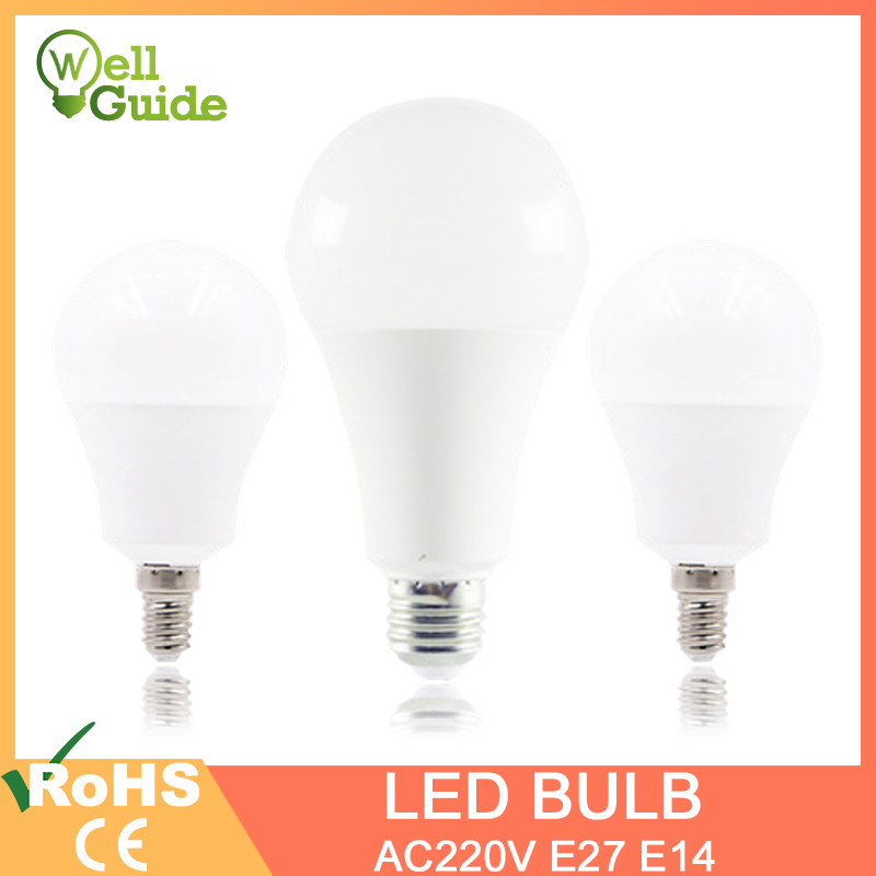 LED Bulb LED Lamps E27 E14 Real 3W 6W 9W 12W 15W 18W 20W AC 220V 230V 240V Lampara Aluminum Table Lamp Lamps Light Bombillas