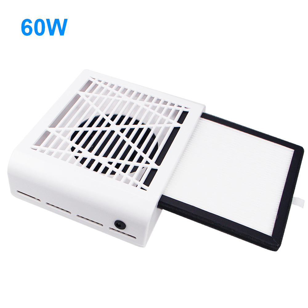 60W Strong Power Nail Dust Suction Collector 4500rpm Nail Fan Art Salon Suction Dust Collector Machine Vacuum Cleaner Fan