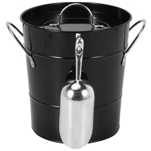 Tin-Bucket Ice-Cube-Container Portable with Lid Round Small Beer Thickened