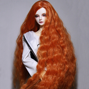 Image 5 - Bybrana BJD פאת הוגן גודל 1/3 1/4 1/6 1/8 ארוך גל טמפרטורה גבוהה סיבי שיער עבור בובות