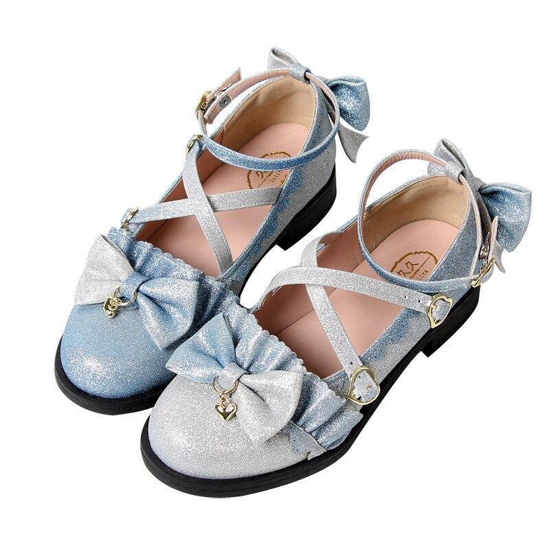 Купить аниме косплей туфли лолиты в винтажном стиле с круглым носком
