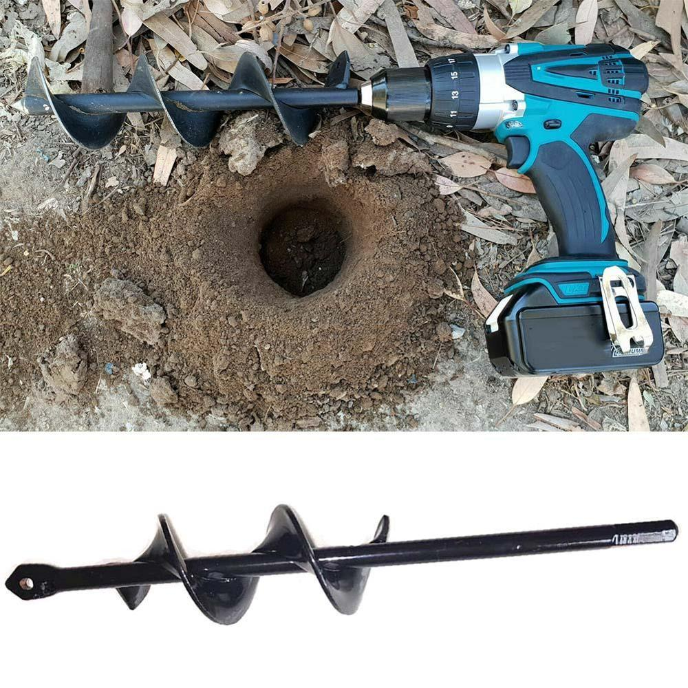 Garden Auger Spiral Drill Bit Roto Flower Planter Bulb HEX Shaft Drill Auger Yard Gardening Bedding Planting Hole Digger Tools