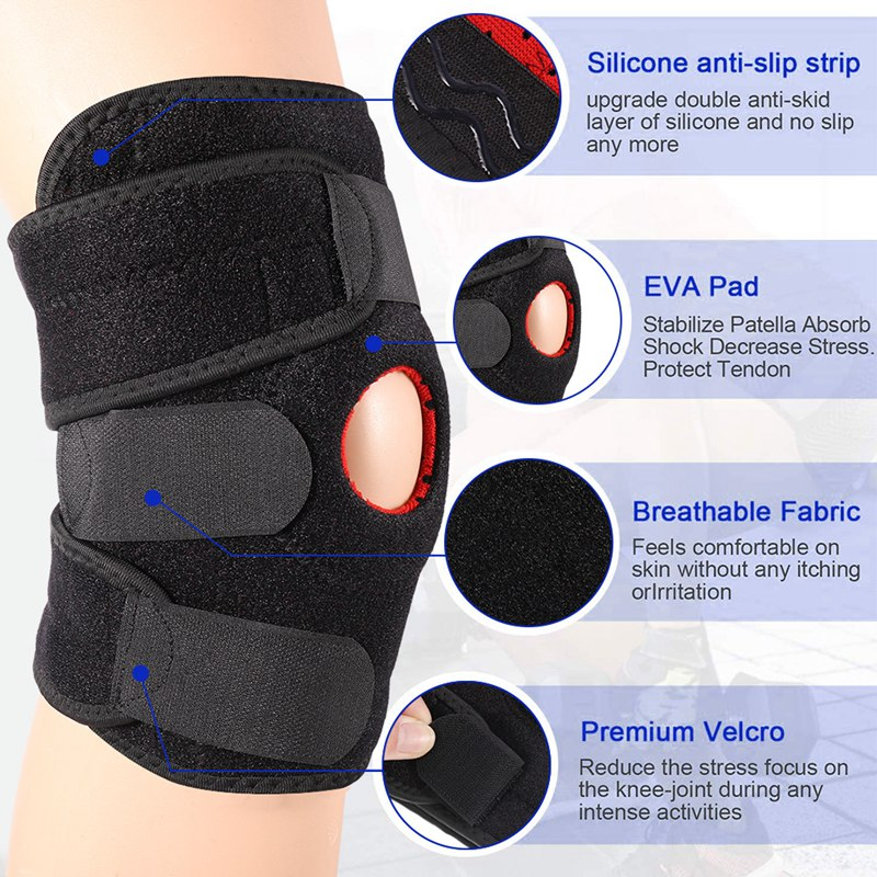 Sports Knee Sleeve Running Fitness Cycling Knee Brace Compression Knee Support Durable Sponge Jogging Protector Pads Men Women