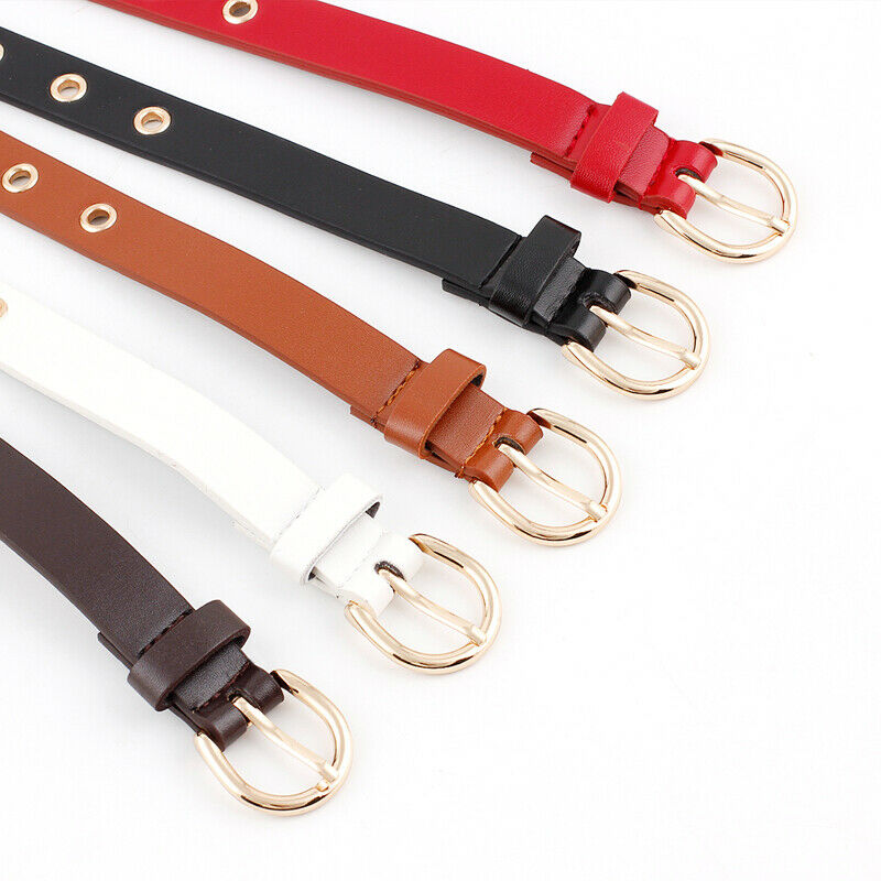 5 Colors Available Belt Lady Vintage Metal Boho Leather Belts For Women Round Buckle Waist Pu Leather Belt Fashion New