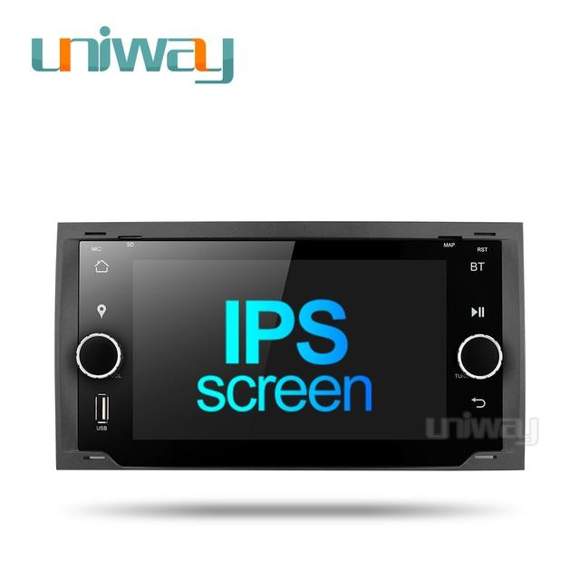 Uniway ALLFKS7071 포드 Mondeo C max 포커스 갤럭시 S max 퓨전 레인저 탈출 원정대 fiesta 용 2G + 32G 안드로이드 9.0 차량용 dvd