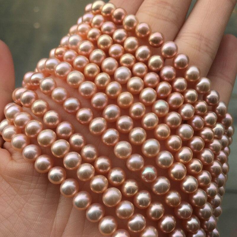 Купить ожерелье из пресноводного жемчуга круглой формы размер 55 6