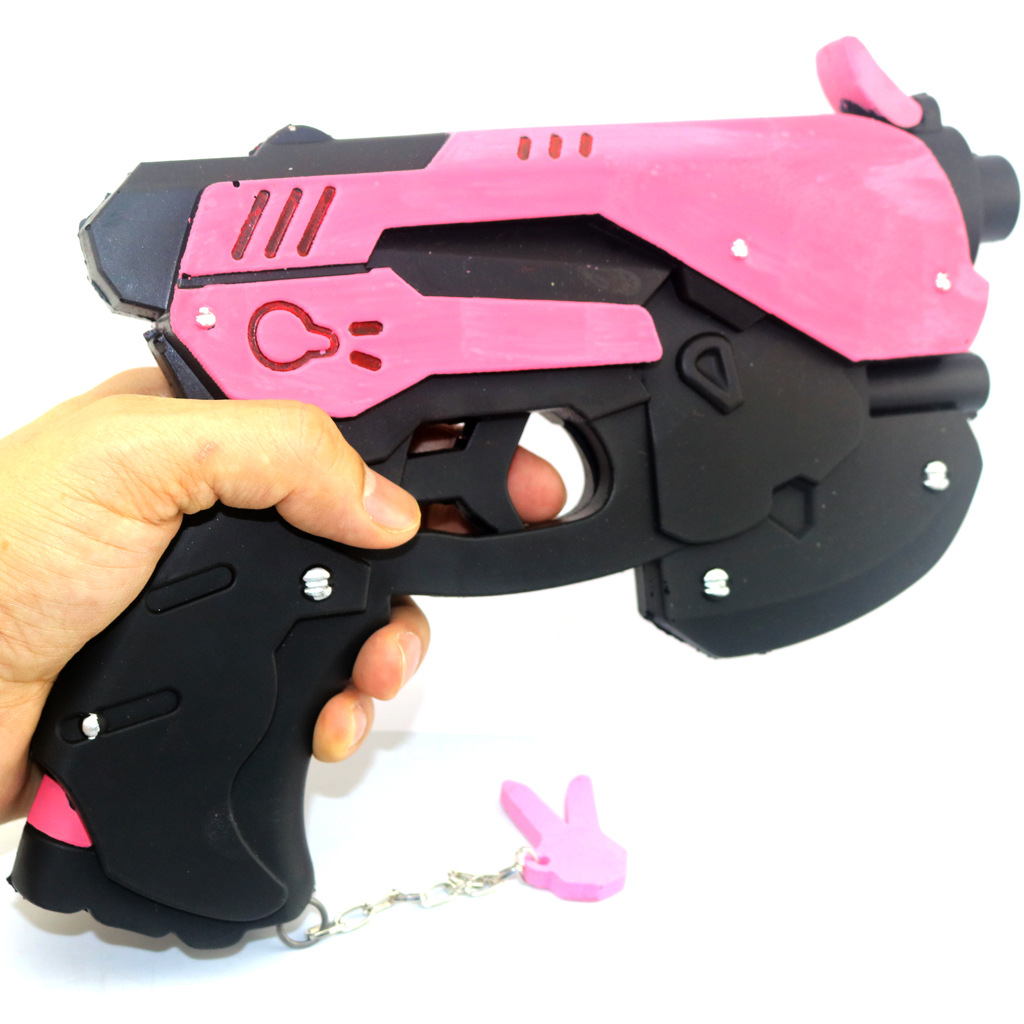 Game Overwatch D.Va Gun Hana Song DVA Weapon Pistol Cosplay Props Accessories For Game Halloween Party Toy 4