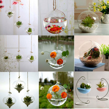 Vase-Ball-Planter Terrarium-Container Landscape-Bottles Glass Flower Clear Round-Shape