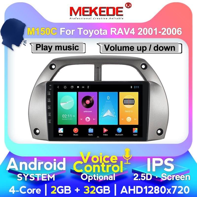 MEKEDE Car Radio Multimedia Video Player For Toyota RAV4 <font><b>RAV</b></font> <font><b>4</b></font> 2001 2002 2003 <font><b>2004</b></font> 2005 2006 GPS Navigation System BT IPS Screen image