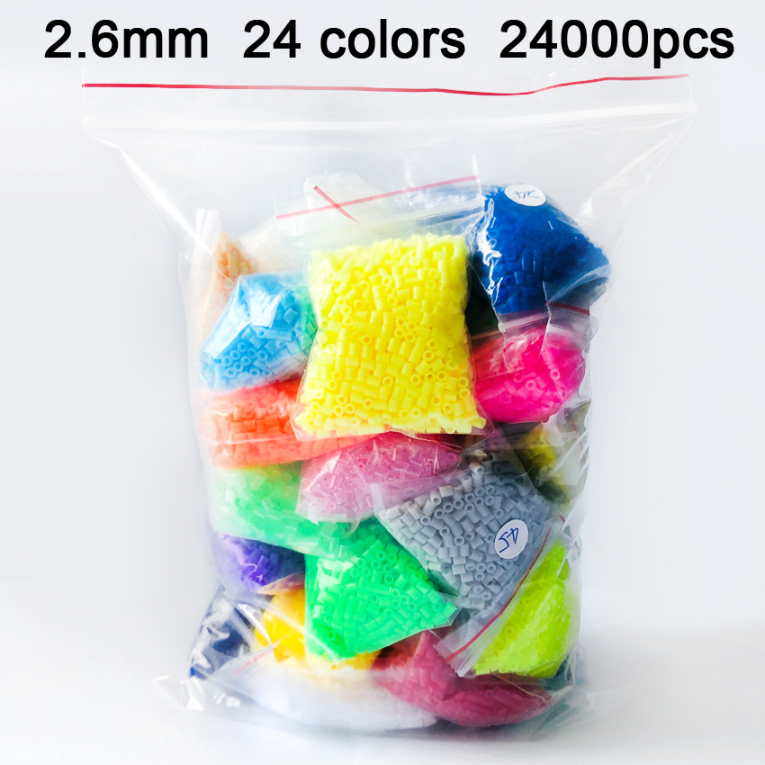 DOLLRYGA 24000pcs 2.6mm EVA Hama Beads Toy Kids Craft DIY Handmaking Fuse Bead Creative Intelligence Educational Toys Juguetes