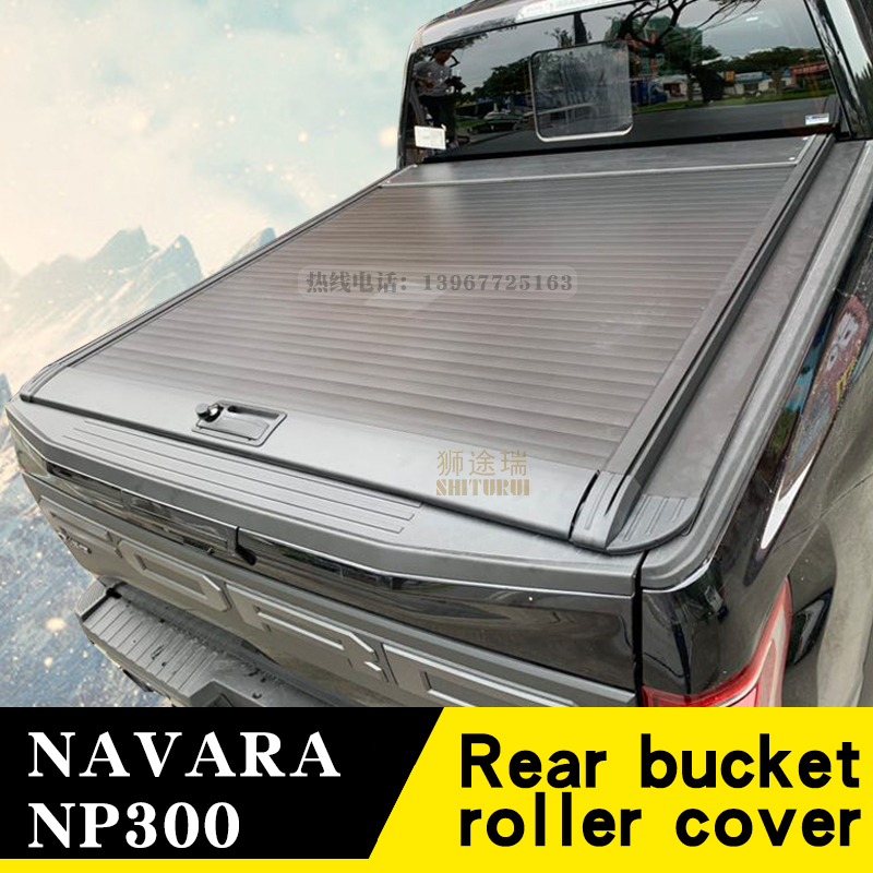 For Nissan NP300 NAVARA Pickup (D23) [2015-today] Pickup Modified Manual Roller Blinds Crew Cab Rear Cover Sliding Flat Cover