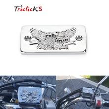 Крышка переднего тормозного бака мотоцикла, хромированная заготовка, крышка резервуара для тормозной жидкости s, крышка масляного бака для Suzuki Intruder 1400 1500 S83