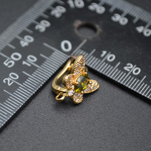 Image 4 - ออกแบบใหม่CZขนาดใหญ่ผีเสื้อรูปร่างโลหะตะขอต่างหูทองเหลืองเครื่องประดับGoldสี/โรเดียมสีเงิน