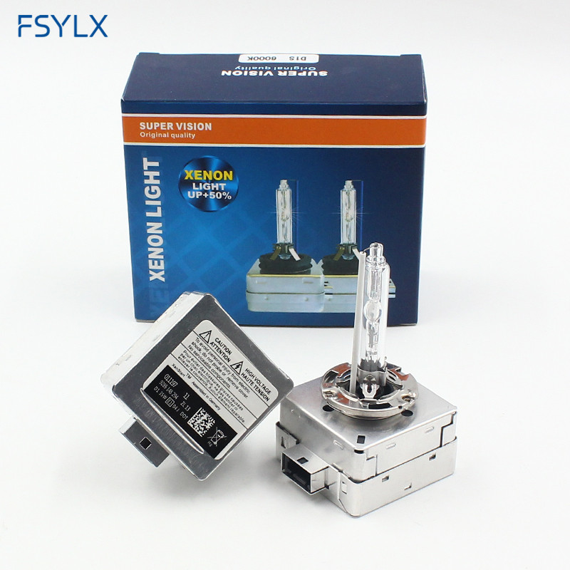 FSYLX D1S D3S 35W AC Car XENON BULB OEM ORIGINAL HID LIGHTS LAMPS 4300K 6000K Xenon Headlight Bulb D1 D1S D1C 12V Car HID Lamps