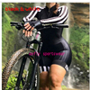 Laranja longo de mangas compridas camisa ciclismo skinsuit 2020 mulher ir pro mtb bicicleta roupas opa hombre macacão 9d gel almofada skinsuit 12