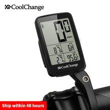 CoolChange ordenador inalámbrico para bicicleta, dispositivo con cable, velocímetro, odómetro, resistente a la lluvia, recargable vía USB