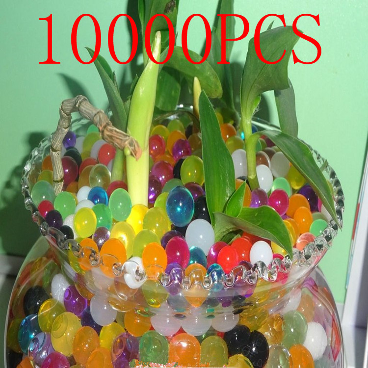 10000PCS/bag wholesale polychromatic crystal mud earth sponge beads colored pottery bubble soilless