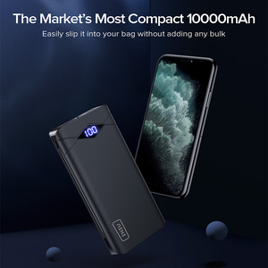 Image 2 - INIU Power Bank 10000mAh LED Display Dual 3A USB Portable Charger Powerbank External Battery Pack Poverbank For iPhone 8 Xiaomi