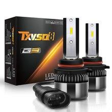 TXVSO8 12v 9006 ledヘッドライト50ワット/電球ユニバーサル2020 HB4ダイオードランプ6000 18k自動車用ライト10000LM bombillas ledコシェ