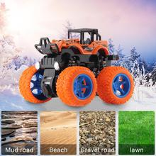 Mini Inertial Off-Road Vehicle Four-Wheel-Drive Plastic Toy Car Model Pull Back Stunt Car Christmas Gifts For Boys Children Kids four wheel drive off road vehicle simulation model toy car model baby toy car gift