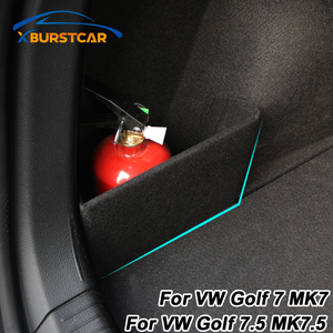 Image 1 - Xburstcar 자동차 트렁크 부팅 배플 파티션 부품 꼬리 상자 스토리지 액세서리 폭스 바겐 폭스 바겐 골프 7 7.5 MK7 MK7.5 2013   2019