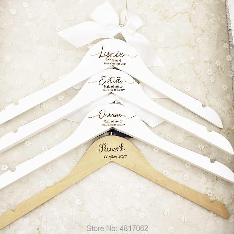 Bridesmaid Hangers Wedding Hangers Bride Hanger Personalized Wedding Hanger Bride Bridal Party Hangers Wedding Dress Hangers