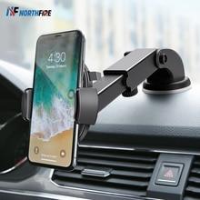 10ワットチー車のワイヤレス充電器iphone xr × 重力吸盤自動車電話ホルダーのための急速充電サムスンS10 s9調節可能なマウント
