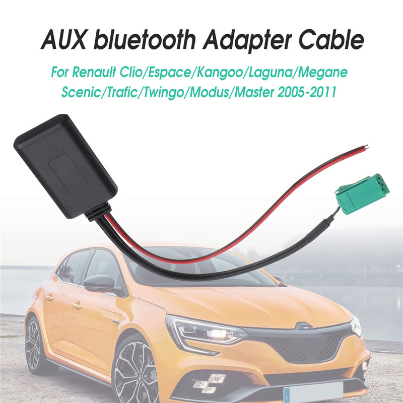 <font><b>12V</b></font> Car <font><b>bluetooth</b></font> Module <font><b>AUX</b></font> <font><b>Adapter</b></font> Wireless Radio Stereo <font><b>AUX</b></font>-IN Cable For Renault For Clio For Kangoo For Megane For Scenic image