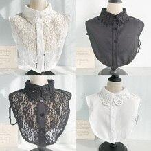 Blouse Vintage Clothes-Accessories Shirt Collar Detachable Cotton Lace Women Lapel