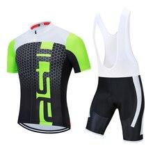 New 2020 Cycling team jersey 19D gel bike shorts set Quick D