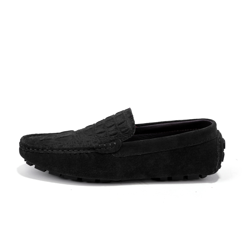 Homme Mocasines Hombre Crocodile SueGenuine Leather Slip On Male Casual Driver Size 38-46 Chaussure Homme Cuir