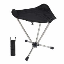 HooRu Tourist Fishing Stool Outdoor Picnic Beach Folding Chair with Carry Bag Portable Camping Lightweight Seat for Travelling