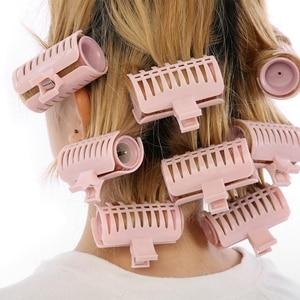 Image 5 - 10 pçs rolos de cabelo mágico tubo elétrico rolo aquecido modelador cabelo estilo varas ferramentas diy salão de beleza cuidados com o cabelo ferramentas de estilo eua plug