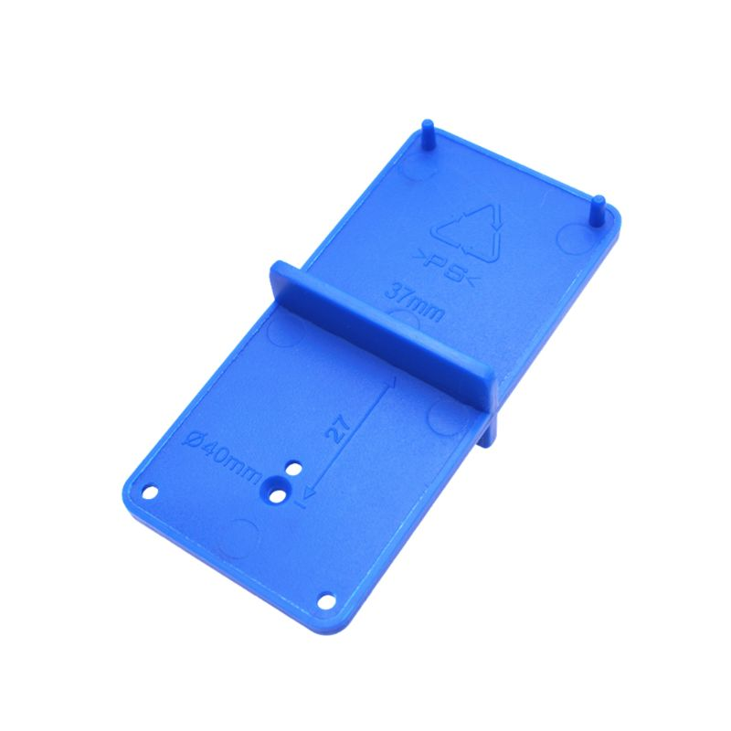 Hinge Hole Drilling Guide Locator Opener Template Door Cabinets Woodworking Tool
