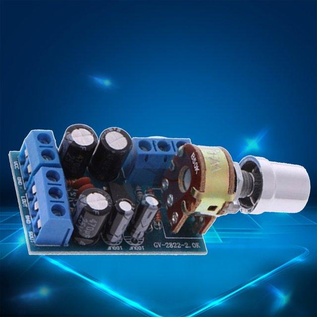 حجم صغير تيار مستمر 1.8-12 فولت TDA2822M 2.0 قناة ستيريو صغيرة AUX مضخم الصوت لوحة تركيبية أمبير وحدة أجزاء 4