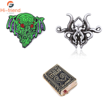 Novel Cthulhu Mythos Brooches The call of cthulhu mask badge Pins For Women Men Lapel Denim Shirt bags Hat Gifts
