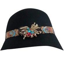 Корейская Повседневная шляпа, шерстяная британская купольная шляпа, Женская дикая Рыбацкая шляпа