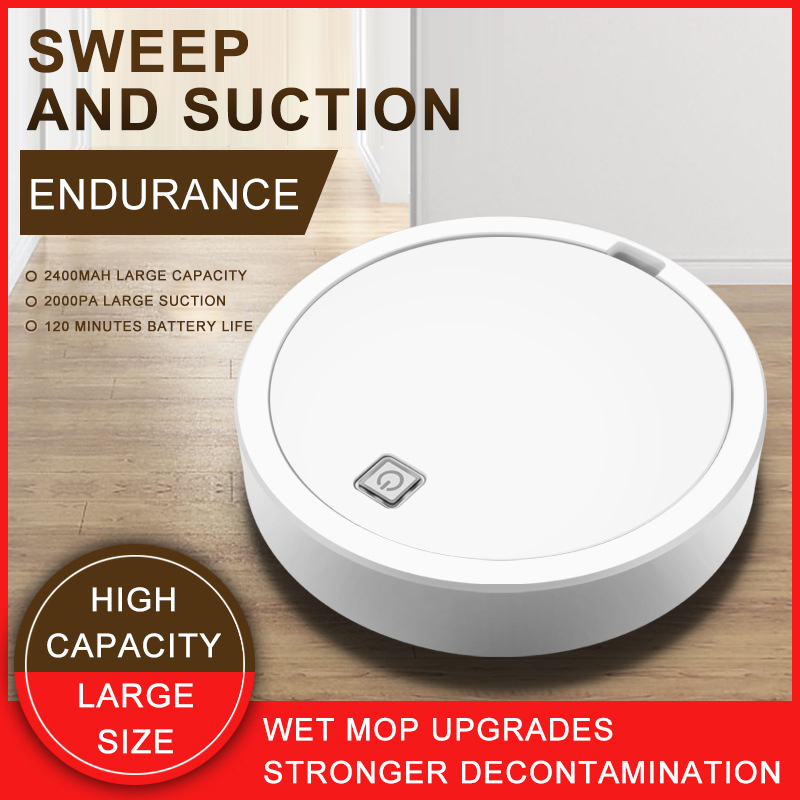 Black/White Automatic Vacuuming Robot Household Appliances Charging Sweeper Electric Robot Cleaner Display Cleaning Helper Tools