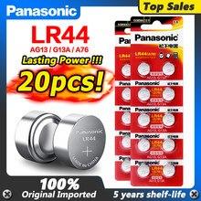 Panasonic – piles bouton originales, 20 pièces, 1.5V, 357A, SR44, 100%, piles au Lithium, pièces de monnaie, A76, AG13, G13A, lr44, LR1154