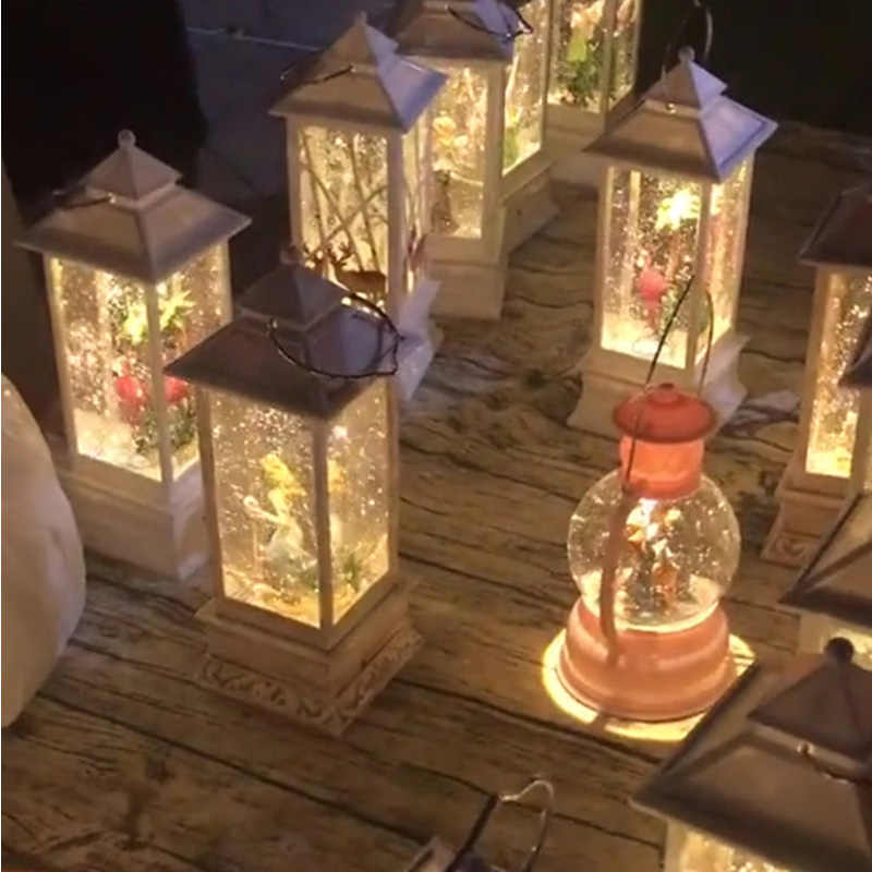 Neuheit Kinder Musik Box Kid Geburtstag Geschenke Musica Tisch Lampe Zimmer Nacht Licht Frohe Weihnachten Dekor für Home Dekoration