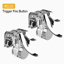 Mando metálico R11s para teléfono móvil, botón disparador, tecla de puntería, mando izquierdo/derecho para PUBG, iPhone y Xiaomi