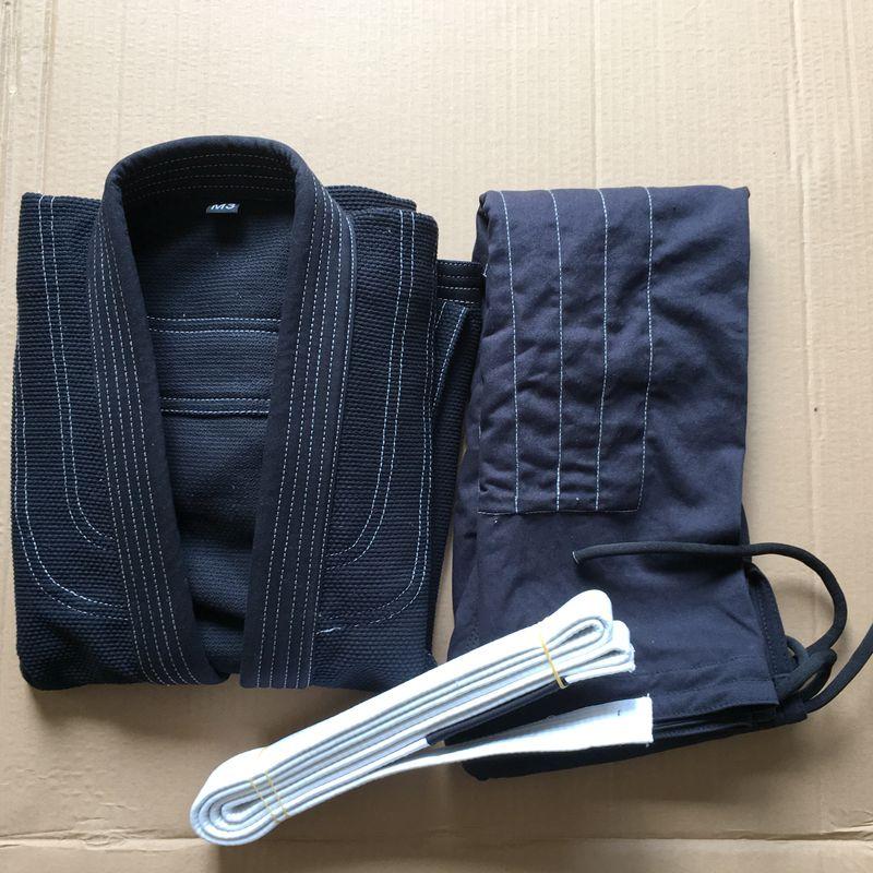 Professional Brazilian Jiu Jitsu Judo Gi Uniform BJJ GI Training Competition Children Adult Light Board Jiu-Jitsu Clothes Black