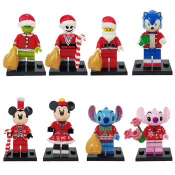Disney Sonics Christmas Series Blocks Anime Figure Mickey Mouse Jack Stitch Assembled Building Block Super Sonics The Hedgehog understanding change in the workplace super series fifth edition super series super series