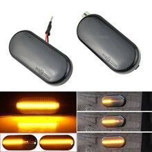 2 peças led marcador lateral dinâmico turn signal luz pisca sequencial para volkswagen vw bora golf 3 4 passat 3bg polo sb6