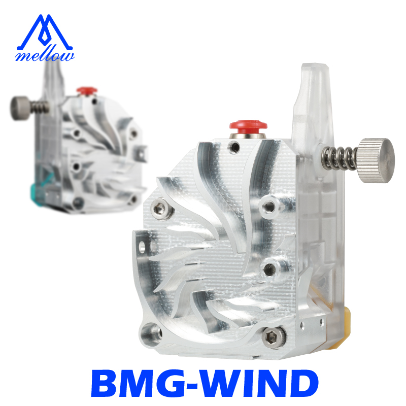 Mellow NF-BMG-WIND V6 Dual Gear Drive BMG Extruder For Simple Installation Ender 3 Short Distance Printing 3D Printer Parts